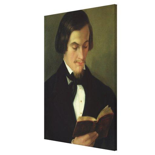 Portrait of the poet Heinrich Heine  1842 Canvas Prints