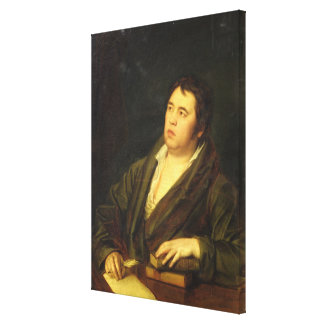 Portrait of the poet Ivan A. Krylov, 1812 Canvas Print