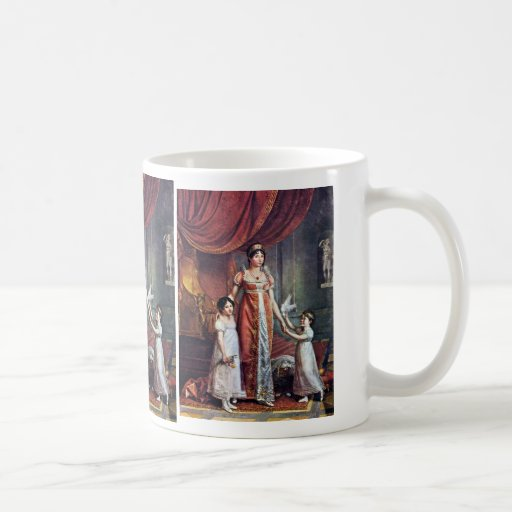 Portrait Of The Queen And Her Daughters Julia Bona Basic White Mug