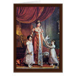 Portrait Of The Queen And Her Daughters Julia Bona Greeting Card