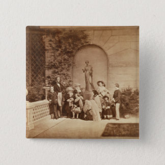 Portrait of the Royal Family at Osborne House, 185 15 Cm Square Badge