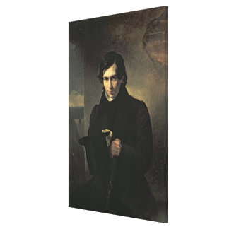 Portrait of the Russian author Nestor Kukolnik Canvas Print