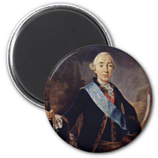 Portrait Of The Russian Emperor Peter Iii. By Pfan 6 Cm Round Magnet