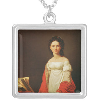 Portrait of the singer Anna Borunova, 1821 Silver Plated Necklace