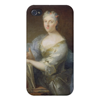 Portrait of the singer Marie-Louise Desmatins iPhone 4/4S Cover