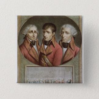 Portrait of the Three Consuls of the Republic 15 Cm Square Badge