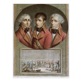 Portrait of the Three Consuls of the Republic Postcard