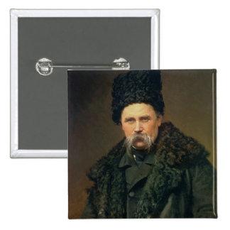 Portrait of the Ukranian Author 15 Cm Square Badge