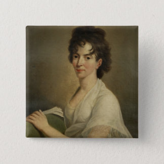 Portrait of the widowed Constanze Mozart, 1802 15 Cm Square Badge
