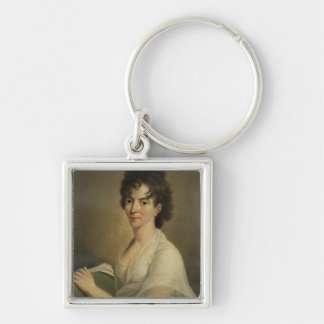 Portrait of the widowed Constanze Mozart, 1802 Silver-Colored Square Key Ring