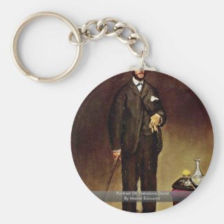 Portrait Of Théodore Duret By Manet Edouard Key Chains