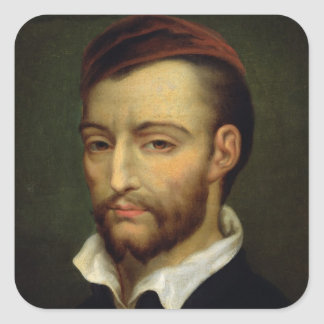 Portrait of Theodore Gericault Square Sticker