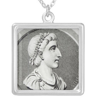 Portrait of Theodosius Silver Plated Necklace