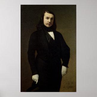 Portrait of Theophile Gautier , 1839 Poster