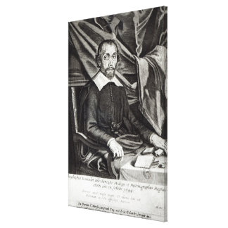 Portrait of Theophraste Renaudot  age 58, 1644 Canvas Print