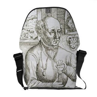 Portrait of Theothrastus Paracelsus (1493-1541), c Messenger Bag