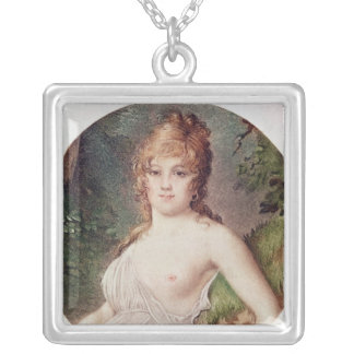 Portrait of Theresa de Cabarrus Silver Plated Necklace