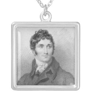 Portrait of Thomas Campbell, 1815 Silver Plated Necklace
