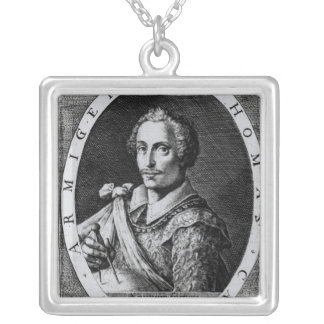 Portrait of Thomas Cavendish Silver Plated Necklace