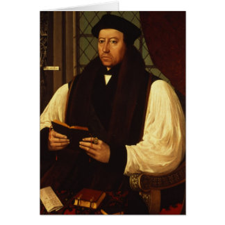 Portrait of Thomas Cranmer  1546 Card