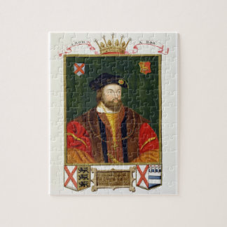 Portrait of Thomas Fitzgerald (1513-37) Lord Offal Jigsaw Puzzle