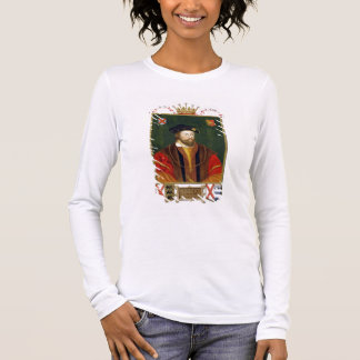 Portrait of Thomas Fitzgerald (1513-37) Lord Offal Long Sleeve T-Shirt