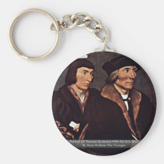 Portrait Of Thomas Godsalve With His Son John Keychains