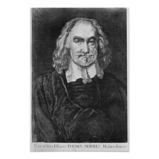 Portrait of Thomas Hobbes Poster
