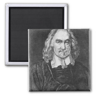 Portrait of Thomas Hobbes Square Magnet