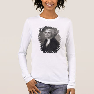 Portrait of Thomas Jefferson, engraved by Henry Br Long Sleeve T-Shirt
