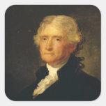 Portrait of Thomas Jefferson Square Sticker