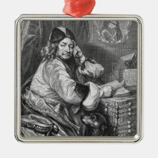 Portrait of Thomas Killigrew (1612-83) Restoration Silver-Colored Square Decoration
