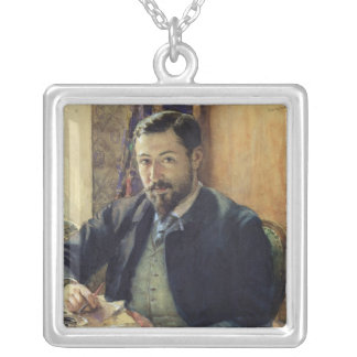 Portrait of Thomas Lemas Silver Plated Necklace