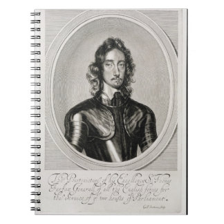 Portrait of Thomas, Lord Fairfax (1612-71) engrave Notebook