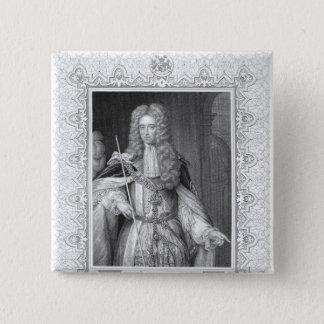 Portrait of Thomas Osborne, engraving 15 Cm Square Badge