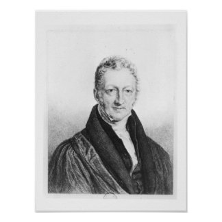 Portrait of Thomas Robert Malthus Poster