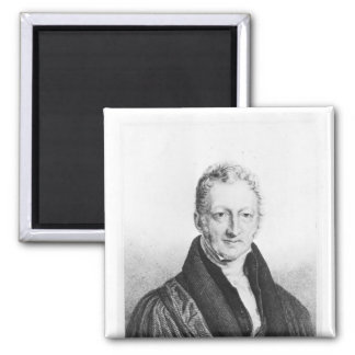 Portrait of Thomas Robert Malthus Square Magnet