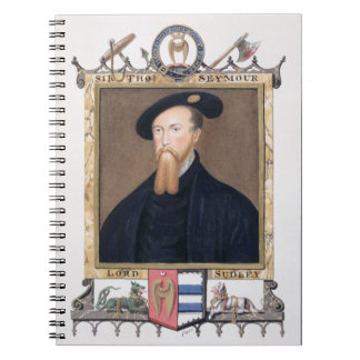 Portrait of Thomas Seymour (1508-49) 1st Baron of Notebook