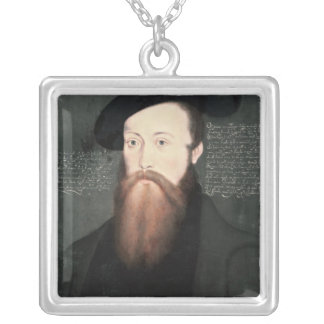 Portrait of Thomas Seymour  Baron Seymour Silver Plated Necklace