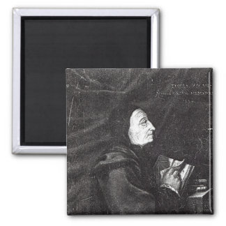 Portrait of Thomas Vicary Square Magnet
