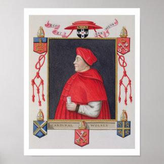 Portrait of Thomas Wolsey (c.1475-1530) Cardinal a Poster