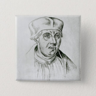 Portrait of Thomas Wolsey, cardinal of York 15 Cm Square Badge
