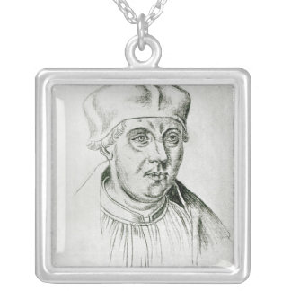 Portrait of Thomas Wolsey, cardinal of York Silver Plated Necklace
