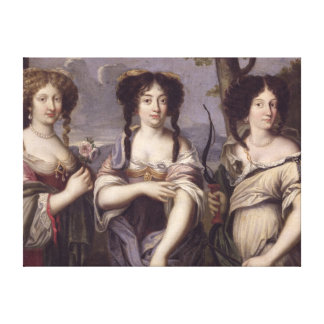 Portrait of three of nieces of Cardinal Canvas Print