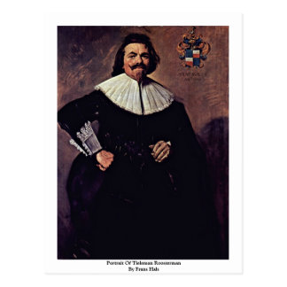 Portrait Of Tieleman Roosterman By Frans Hals Postcard