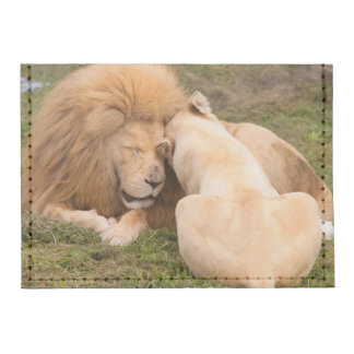 Portrait of Timbavati White lion male and female Tyvek® Card Case Wallet