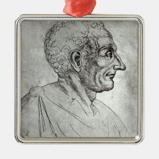 Portrait of Titus Livius known as Livy Silver-Colored Square Decoration