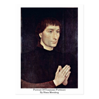 Portrait Of Tommaso Portinari By Hans Memling Postcard