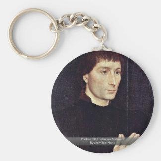 Portrait Of Tommaso Portinari By Memling Hans Key Chains