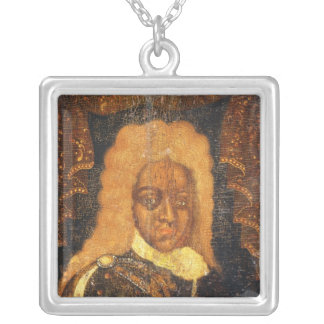 Portrait of Tsar Alexei I Silver Plated Necklace